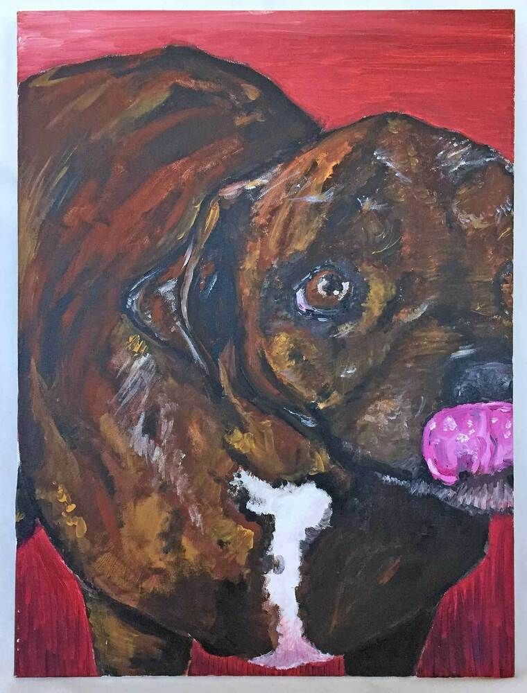 Pin On Dog Paintings
