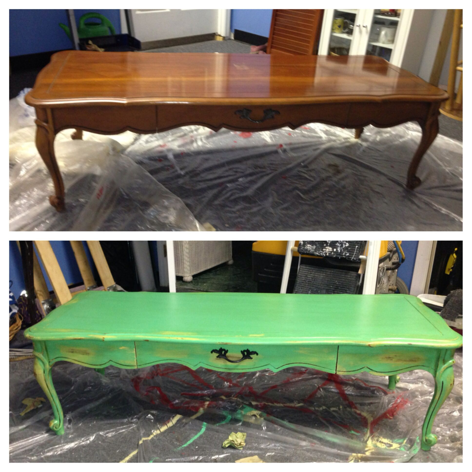 Green Coffee Tables Distressed Green Coffee Table My Creations Pinterest Coffee