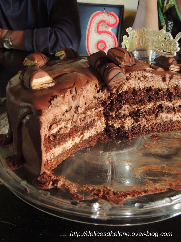 Layer cake nutella et kinder bueno g teau p tisserie et anniversaires - Gateau kinder bueno facile ...