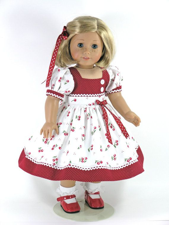 18 inch Doll Clothes fit American Girl - Dress, Bloomers, Hair ...