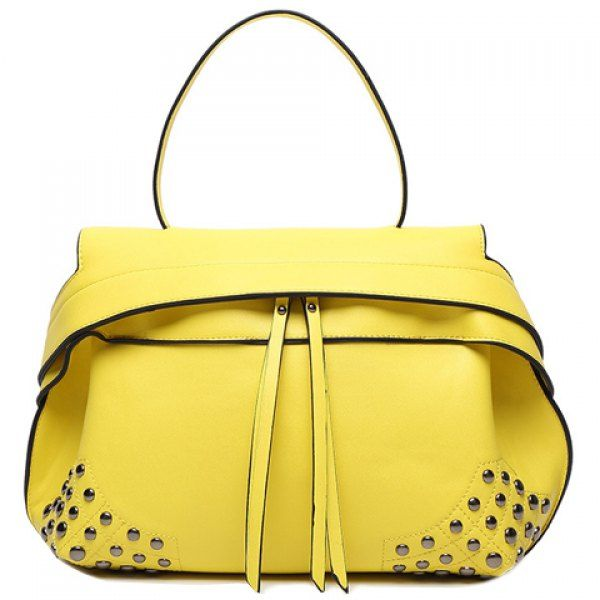 Fashion Zip and Rivets Design Women's Tote Bag #shoes, #jewelry, #women, #men, #hats, #watches