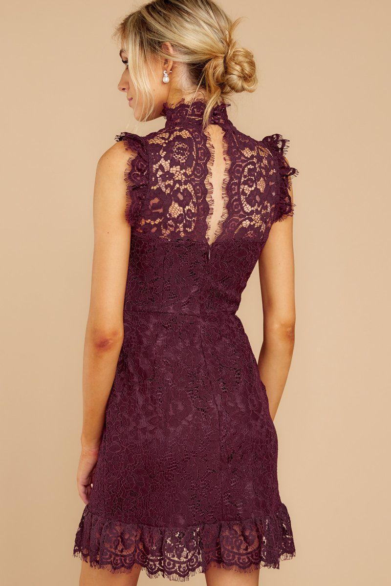 Learn To Love Wine Lace Dress Lace Burgundy Dress Cocktail Dress Lace Wine Colored Dresses [ 1200 x 800 Pixel ]