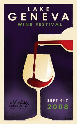 soulsight® | News | Lake Geneva Wine Festival Poster wins Graphis Gold
