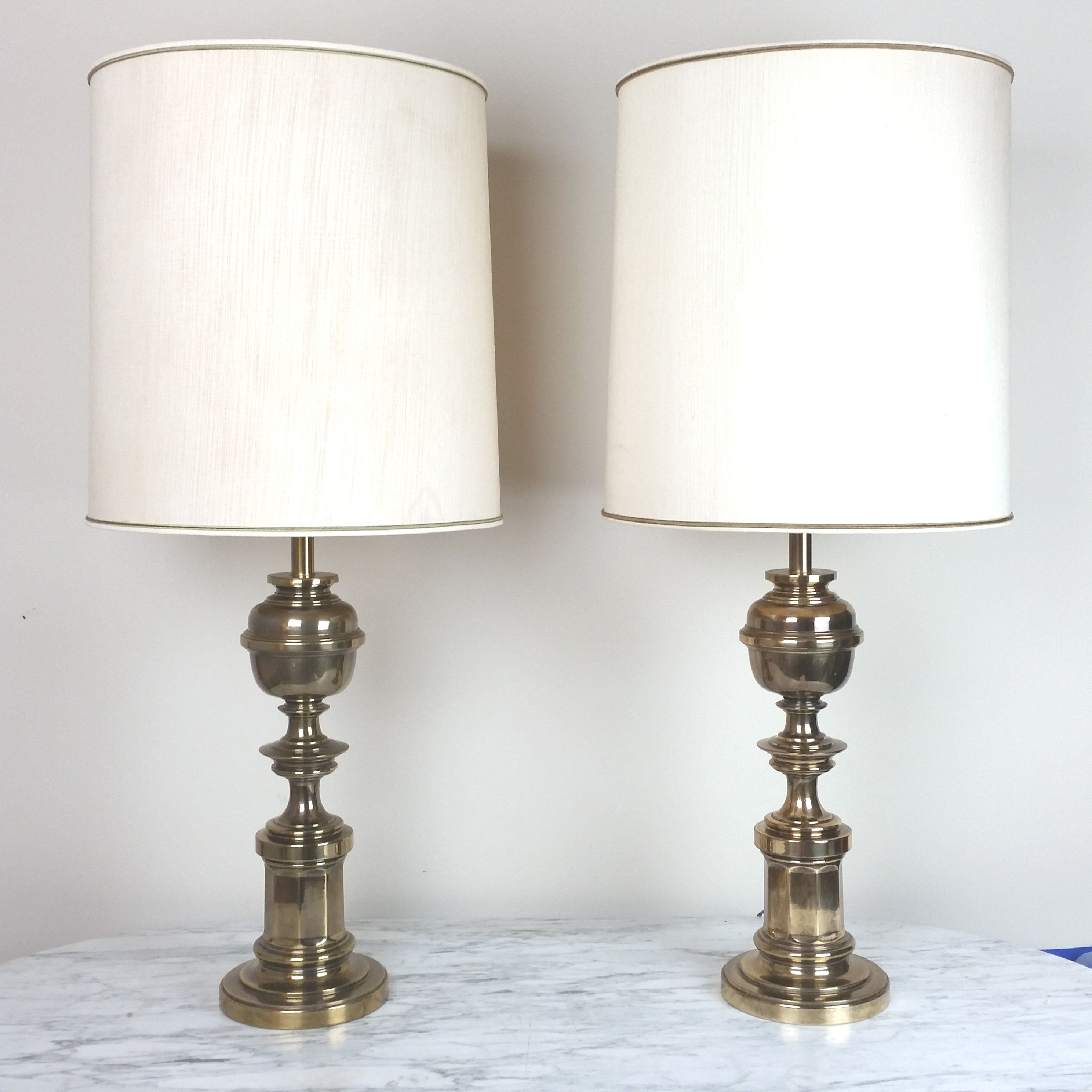 Pair Stiffel Brass Table Lamps Mid Century Living Room Decor In 2020 Brass Table Lamps Mid Century Living Room Decor Table Lamp