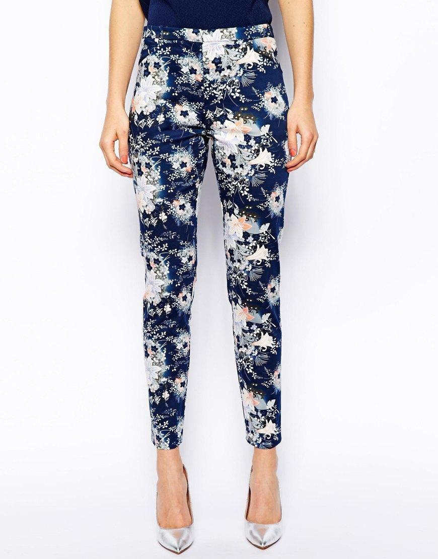 Oasis   Oasis Mini Fan Print Trouser at ASOS