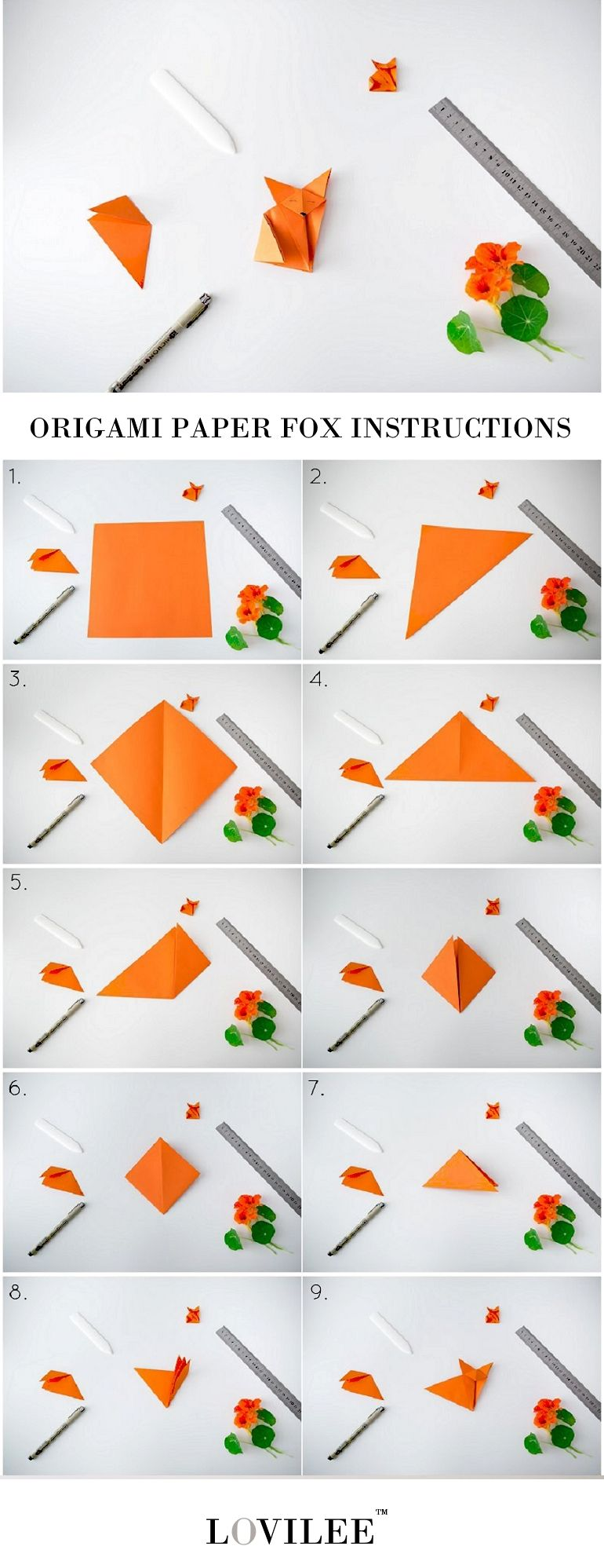 How to make an origami fox face step by step. - YouTube | 1997x770