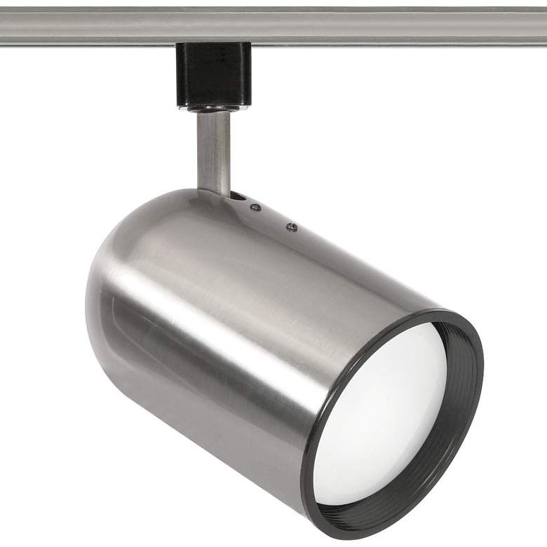 Nuvo Brushed Nickel R30 Bullet Cylinder Track Head 74m54 Lamps Plus Halo Track Lighting Track Lighting Lamps Plus