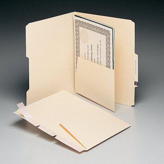 Smead Manila Self-Adhesive Folder Divider with - resume folders