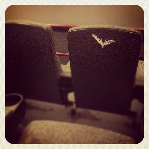 Batman was here! #AMCDarkKnight