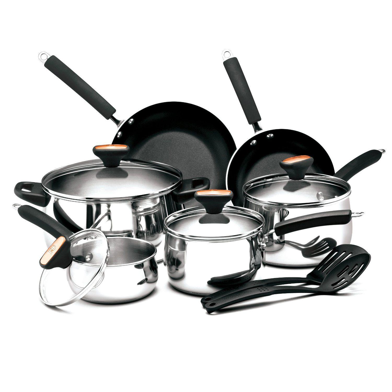 Paula Deen Signature Stainless Steel Ii 12 Piece Cookware Set