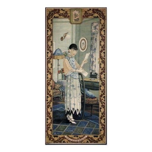 Old Shanghai Poster Women Pin Up Art
