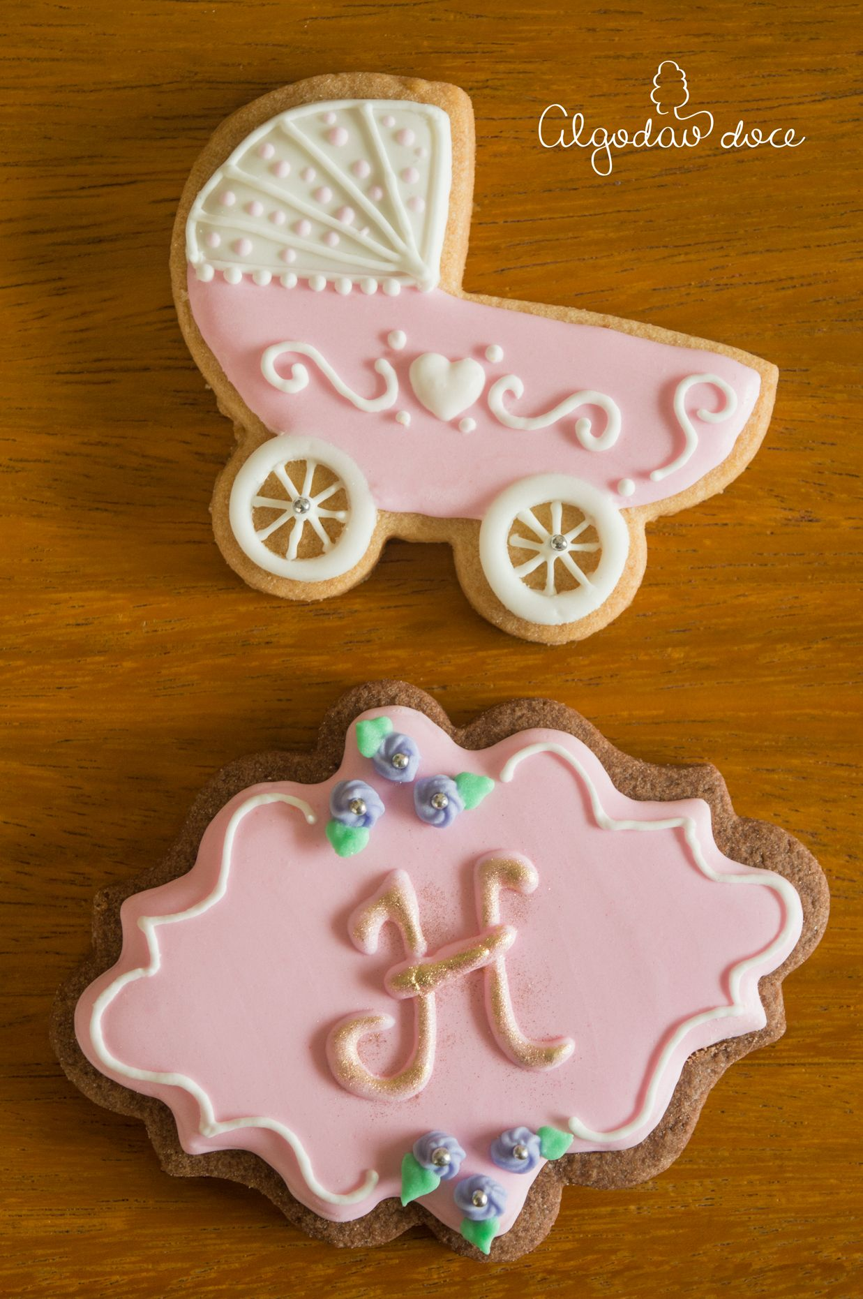 Biscoitos Ch De Beb Baby Shower Cookies Decorados Decorated Cookies,
