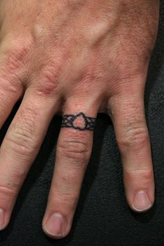 ring tattoos for him - Google Search | Couple Things | Pinterest ...