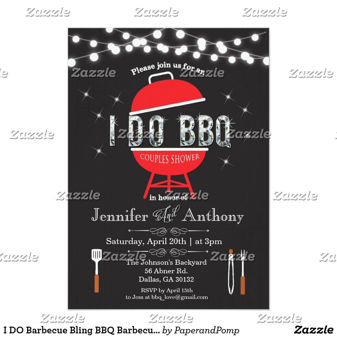I DO Barbecue Bling BBQ Barbecue Invitation | Pinterest | Invites ...