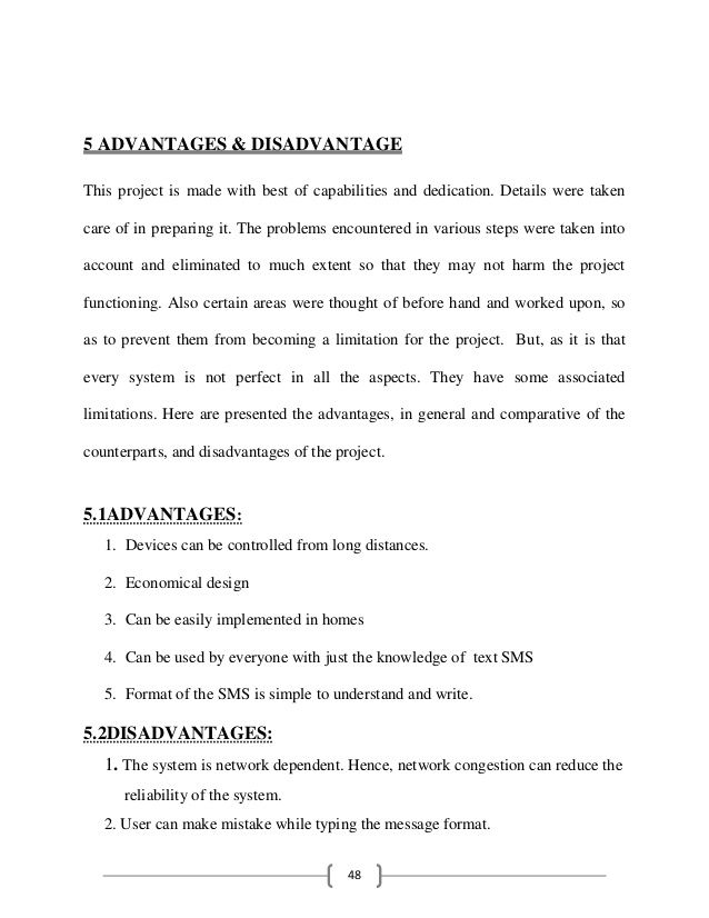 Sms based home automation system project report House style - project report