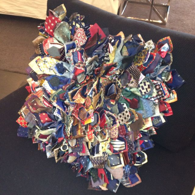 Throw Pillow Made of Men s neckties I found in a show room, I just love this, so fun and unique ...