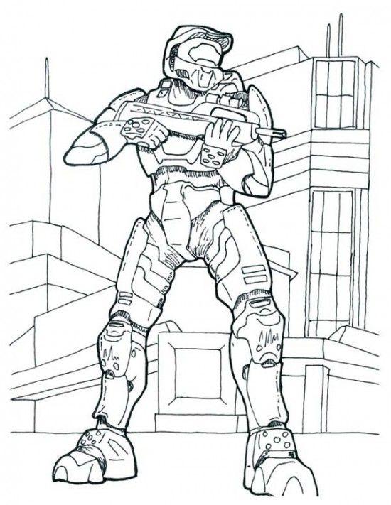 Printable Halo Coloring Pages For Kids Pelicula De Horror Dibujos Imagenes Halo