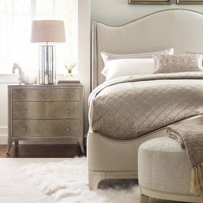 Avondale Solid Wood Upholstered Standard Configurable Bedroom Set Upholstered Beds Bedroom Set Upholstered Panel Bed