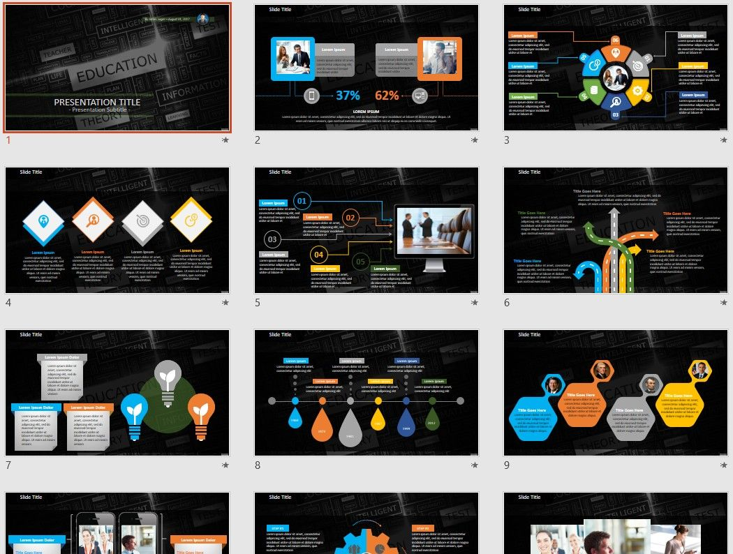 Education and learning PowerPoint by SageFox