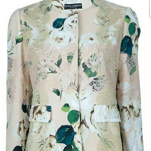 Dolce &  Gabbana FLORAL JACKET Condition New ! Dolce & Gabbana Jackets & Coats Blazers