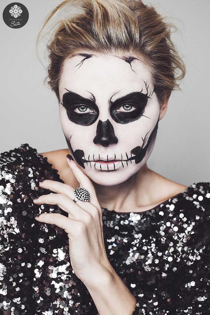 skelett målning ansikte