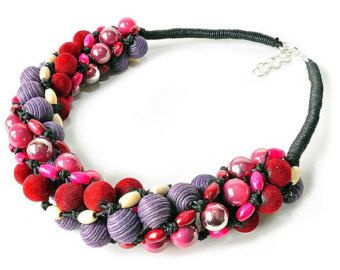 HANDICRAFT WORKSHOP KAMA4you recommends:  hand-braided, original necklace.  To Like, To Love, To BUY :-)  Braided necklace, made of acrylic and wooden