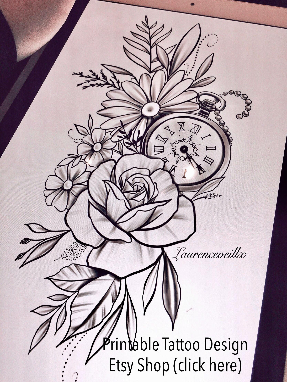 Printable Tattoo Designs Von Laurencevartiste Auf Etsy Folgen Sie Mir Auf Ig Fur Mehr Tattoo Design Printable Tattoos Tattoo Sleeve Designs Watch Tattoos