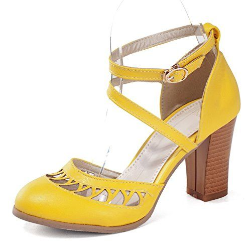 Vouge009 Womens Closed Round Toe High Heel Chunky Soft Material PU Solid D-orsay Pumps with Hollow Out, Yellow, 37 Vogue009 http://www.amazon.com/dp/B00LII5A62/ref=cm_sw_r_pi_dp_sImZtb0JT8FCV289