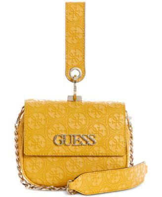 Guess Heritage Pop Mini Crossbody Yellow | Products in