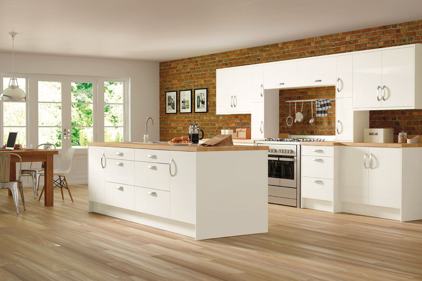 Trieste Gloss White Rixonway Kitchens Timeless kitchen