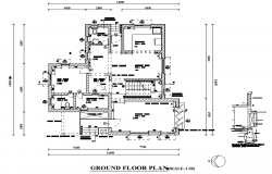 Ground Floor Bungalow Plan Autocad File Autocad Drawing