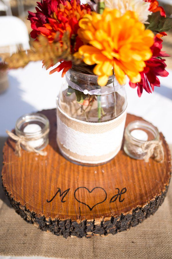 Country Western Style Wedding Rustic Wedding Centerpieces