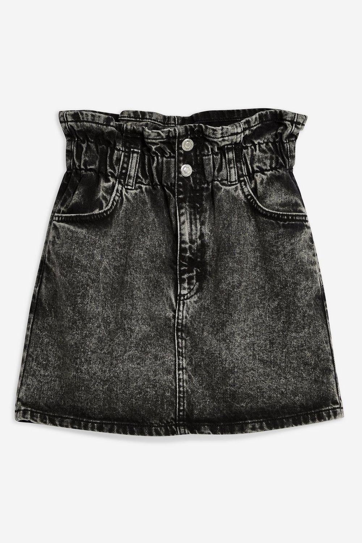 def9ee9c6e04c Acid Wash Paperbag Denim Skirt | Topshop Denim Jeans, Black Denim Shorts,  Denim Skirt