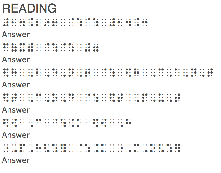 Nemeth Tutorial From Aph Education Braille Pinterest Activities