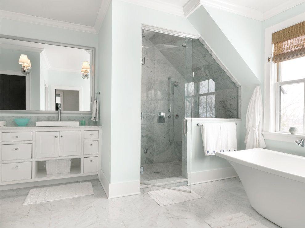 Carrara Bianco Marble Bathrooms Tile Pictures