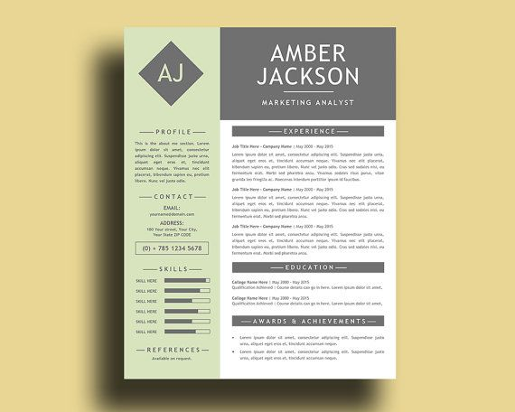 Windows Resume Template Holiday Sale Pastel Green Modern Resume Template With Free Cover