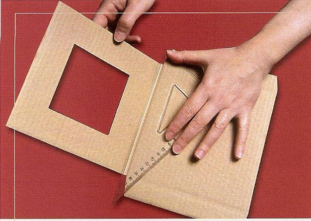 tutoriel fabriquer un petit cadre oriental en carton cr ations en carton cartonnage. Black Bedroom Furniture Sets. Home Design Ideas