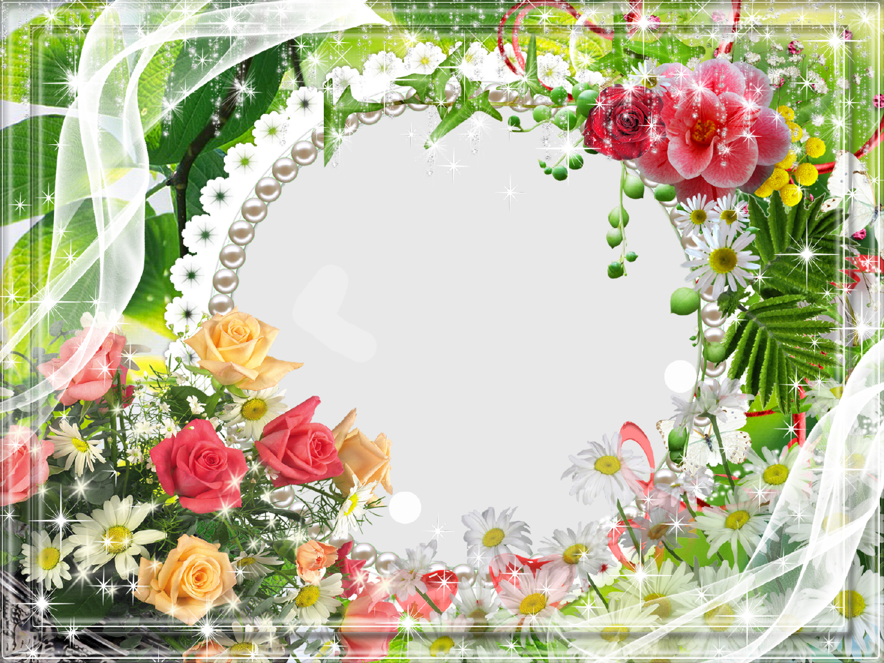 Circular pearl picture frame with color flowersg 1280960 circular pearl picture frame with color flowersg izmirmasajfo