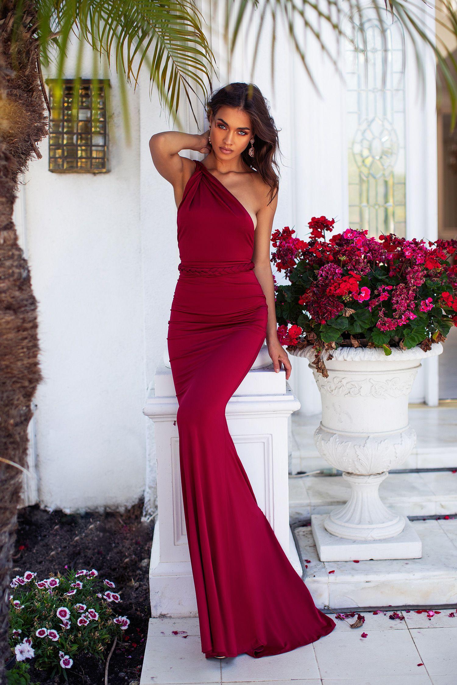 Graciela Wine Red Red Prom Dress Red Wedding Dresses Long Mermaid Dress [ 2249 x 1500 Pixel ]