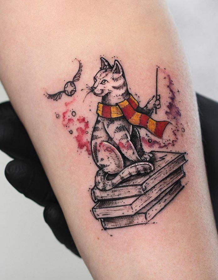 Tatuaje Gatos harry potter cat tattoo | tattoos | pinterest | tatuaje piercing