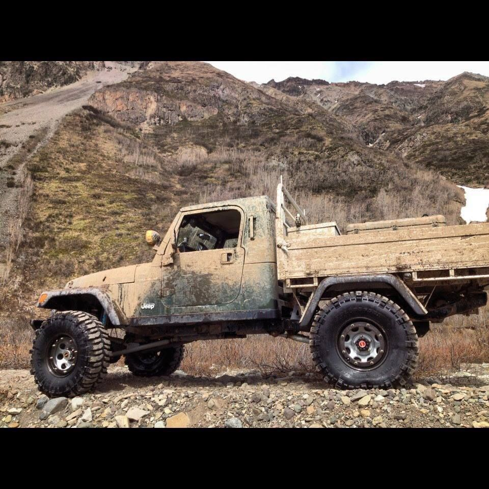 Custom jeep tj truck bed