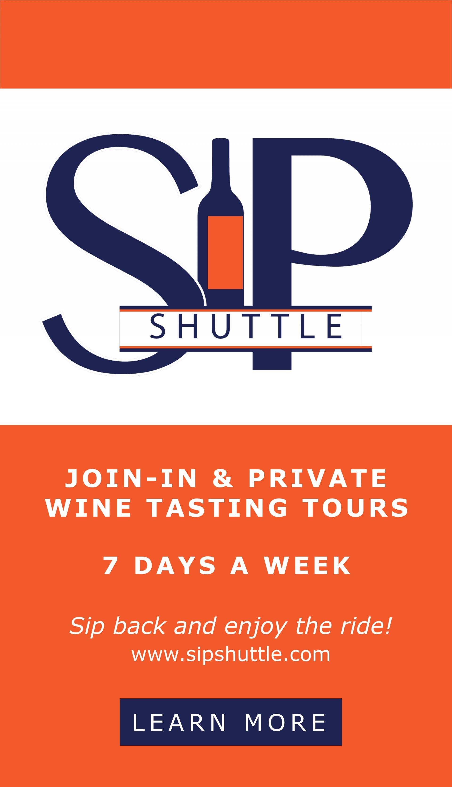 Sip Shuttle Web Ad Wine Tour Wine Tasting Tours Wine Tasting