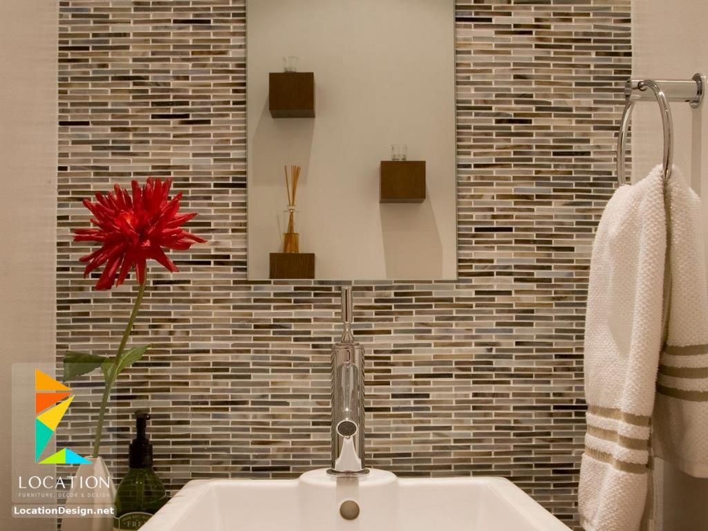 أحدث واجمل سيراميك حمامات مودرن للأرضيات والجدران Bathroom Wall Tile Design Bathroom Wall Colors Toilet Tiles Design