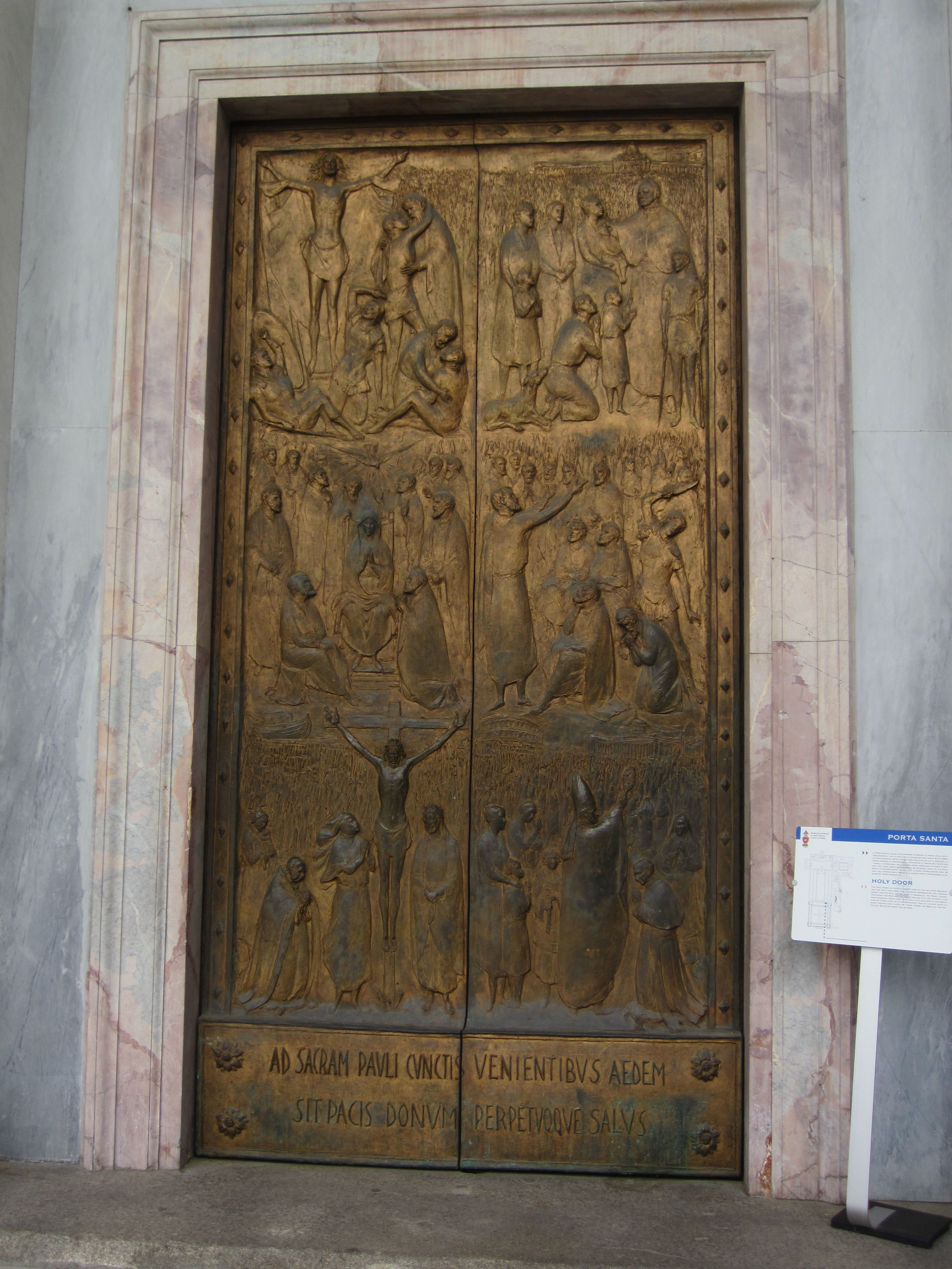The Holy Door At St Paul S Cathedral In Rome Italy Went