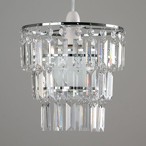 Tesco direct kelsks 3 tiered ceiling pendant shade clear droplets