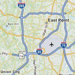 Map Of Atlanta GA Atlanta Georgia Hotels Restaurants Airports - Mapquest georgia