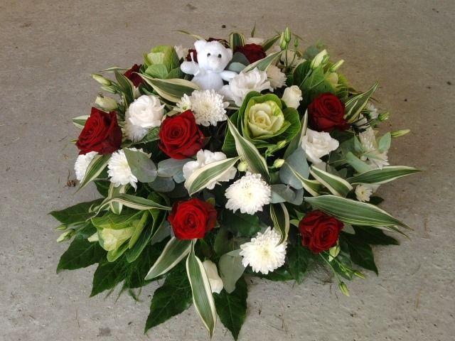 coussin rond de deuil en fleurs artificielles pour enterrement sur commande  seulement   Autres art par creat-tine 1751f454260
