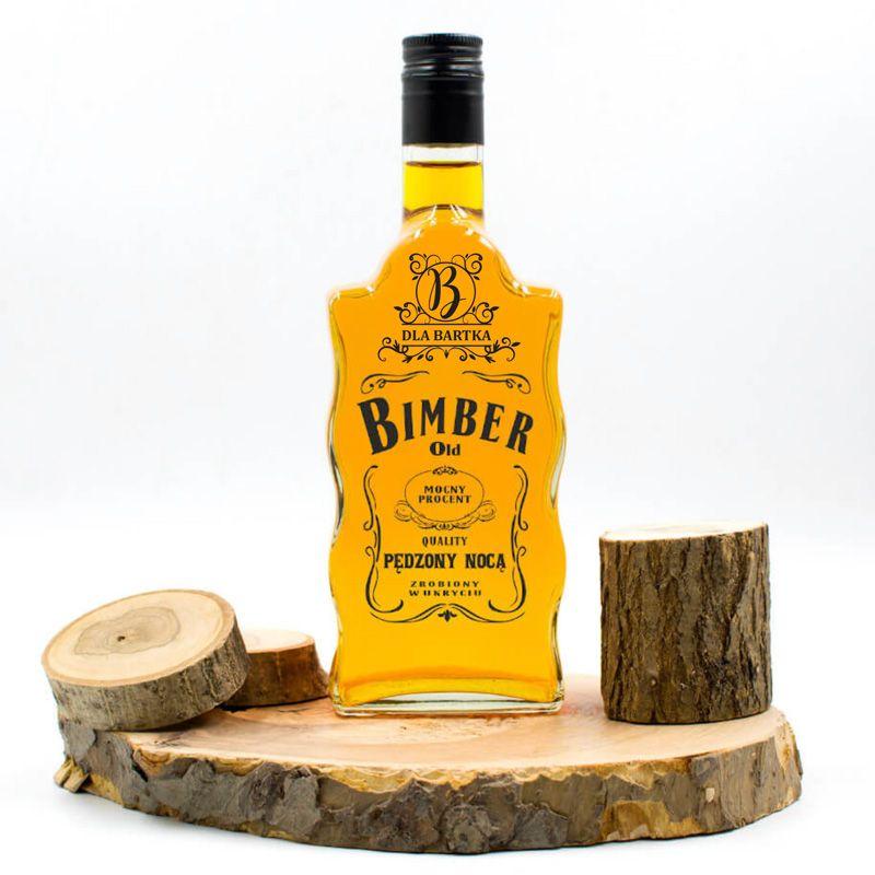 Karafka Falista Na Prezent Old Bimber Z Imieniem Whiskey Bottle Bottle Whiskey