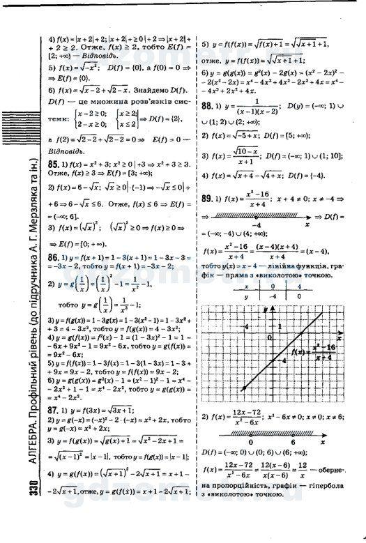 Решебник по алгебре 11 класс бевз скачать бесплатно