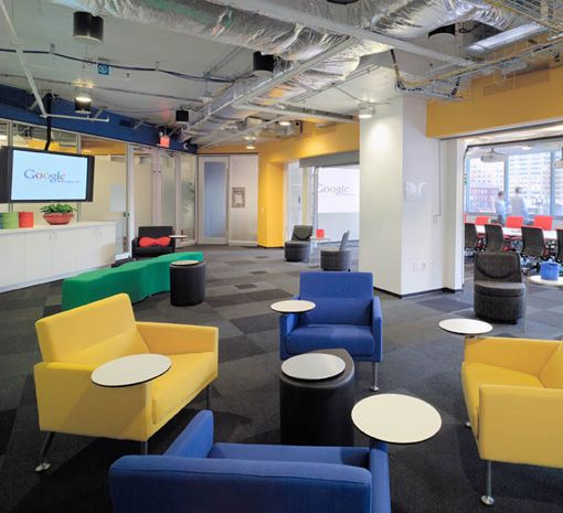 Google Office Irvine 1: Google Office London. Floating Discs! An Update On The Old